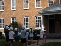 leading an archaeology day camp<BR> Oneida Community Mansion House - 2016